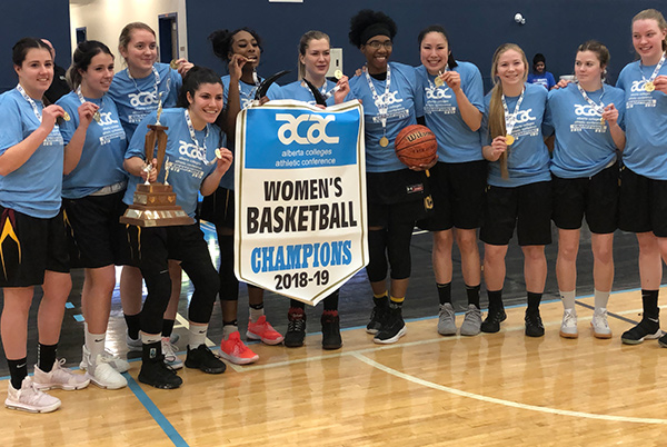 Women's Basketball Celebrating Championship Season