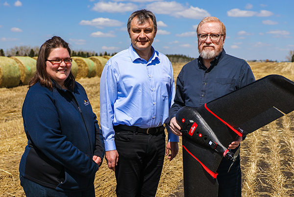Joy, Alex & George with Smart Farm Drone