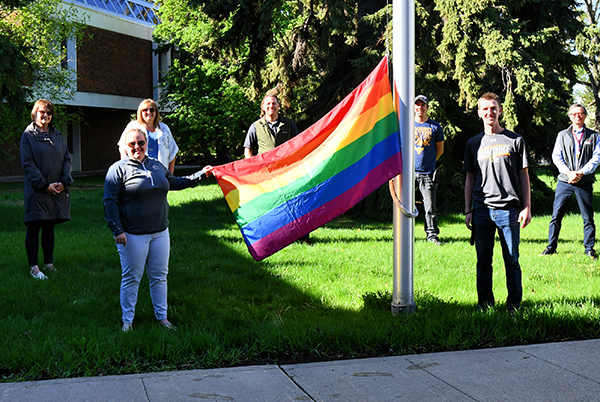 Pride Flag Raised to Celebrate Inclusivity