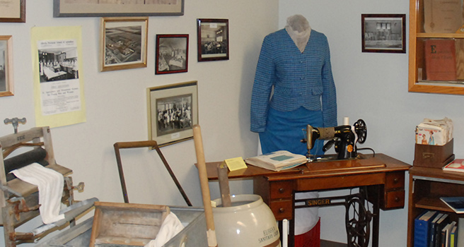 Alumni Museum display