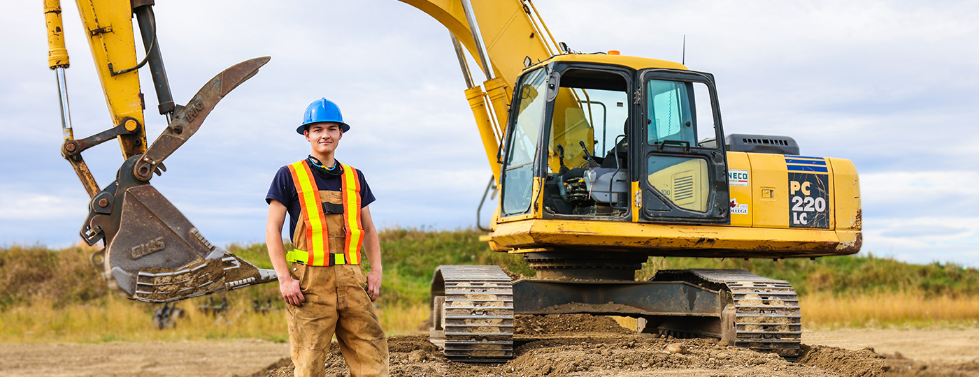 Heavy Equipment Operator in the field