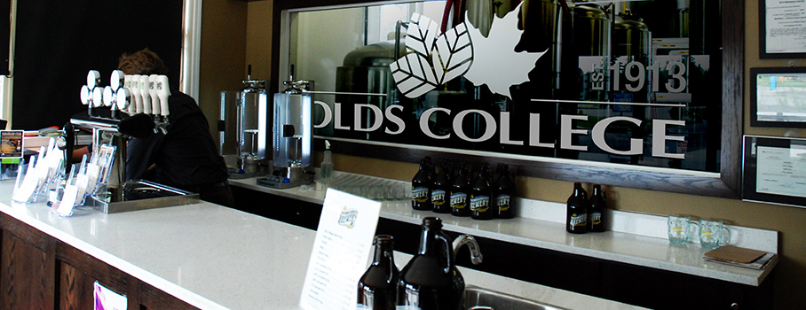 Interior of the Olds College Brewery
